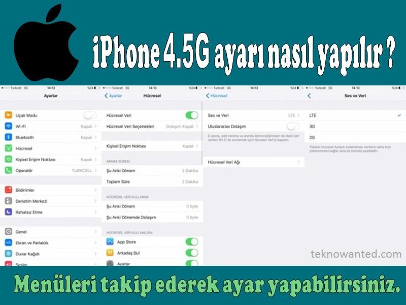 iPhone 4.5G ayarı nasıl yapılır, resimli anlatım