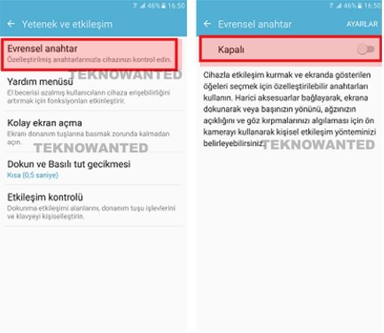 Samsung Evrensel anahtar özelliği (3)