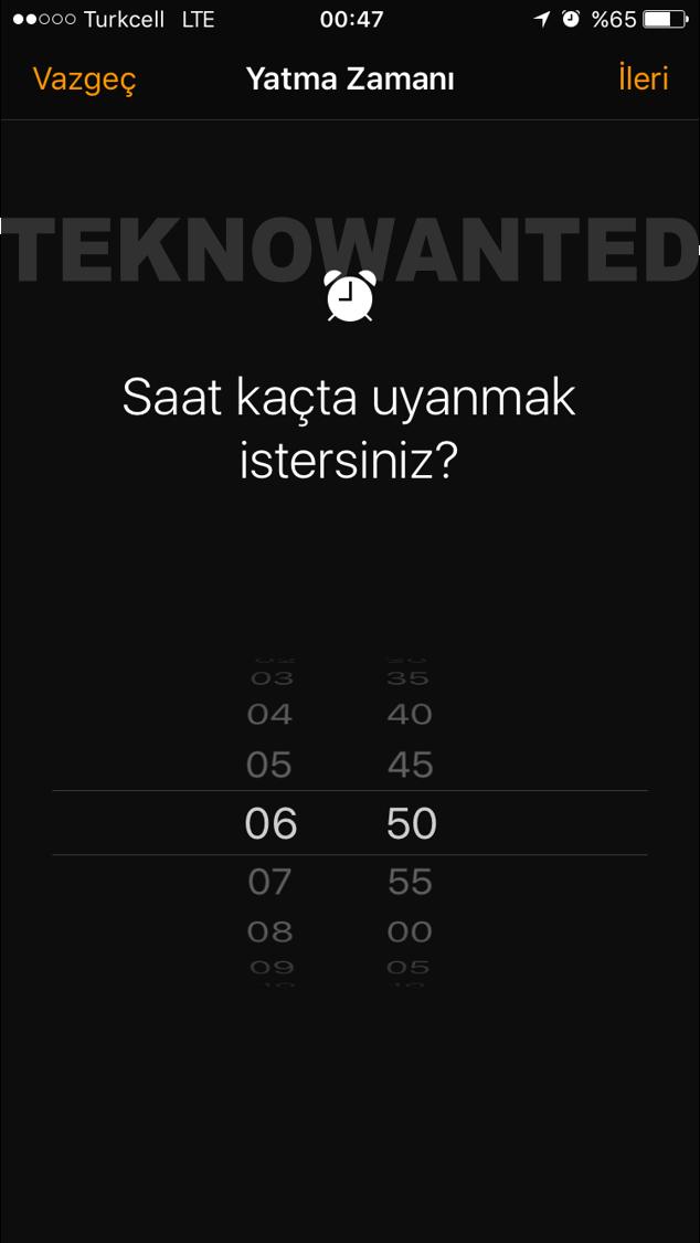 iOS 10 Yatma zamanı Bedtime (2)