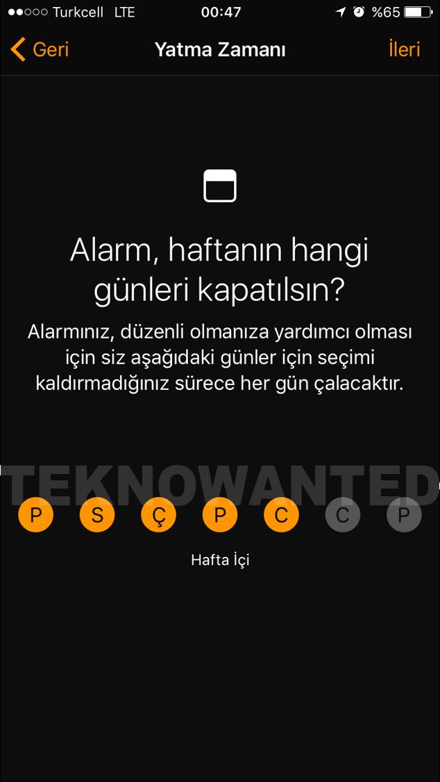 iOS 10 Yatma zamanı Bedtime (3)