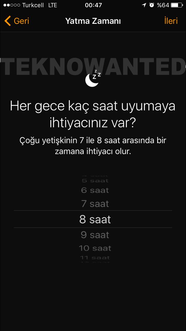 iOS 10 Yatma zamanı Bedtime (4)