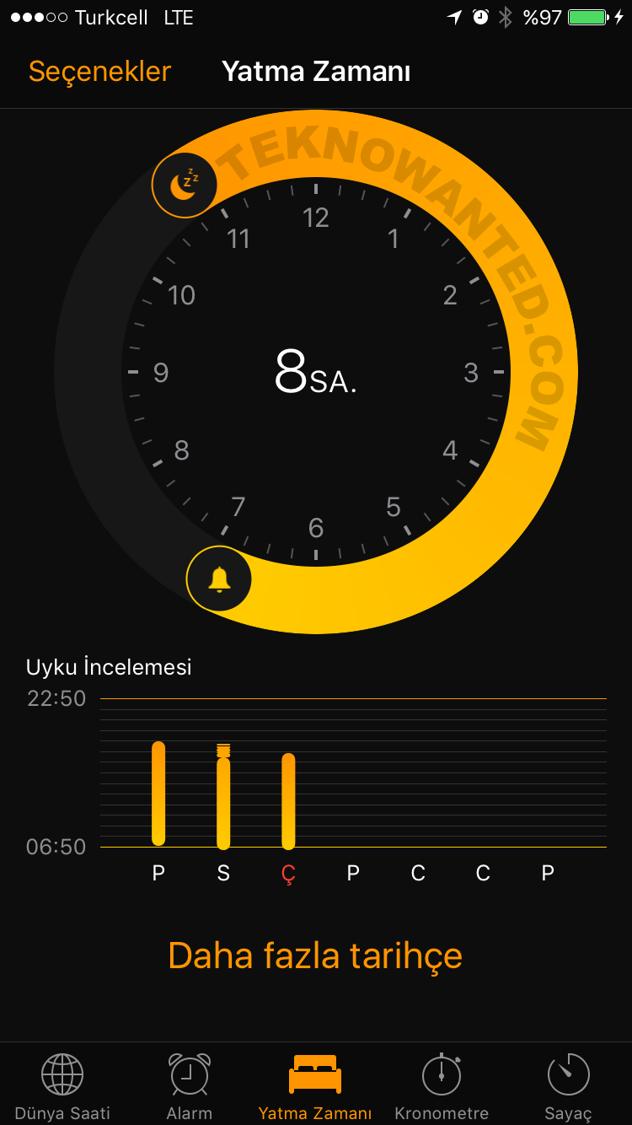 iOS 10 Yatma zamanı Bedtime (8)