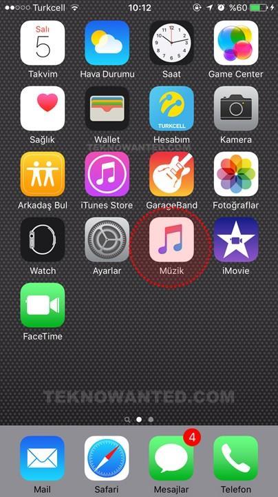 iTunes Apple iPhone Çevrimdışı müzik dinleme(1)